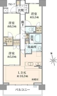 パークシティ武蔵野桜堤フォレストハウスC棟の間取図