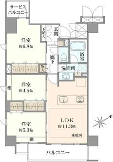 シエリア横浜鶴見の間取図