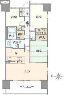 パークウエスト東京イーストブロック棟F号棟の間取図