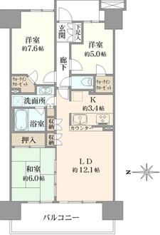 パークウエスト東京イーストブロックの間取図
