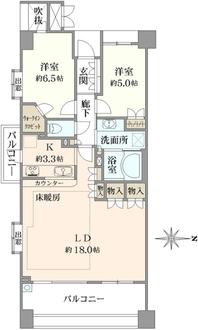 パークハウス吉祥寺トリニファイの間取図