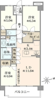 ウエリス武蔵野関町の間取図