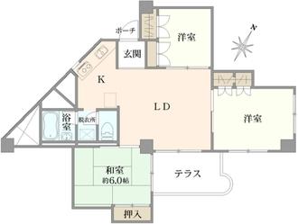 武蔵野グリーンタウンE棟の間取図