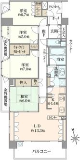 アデニウム吉祥寺の間取図