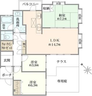 ハウス吉祥寺 B館の間取図