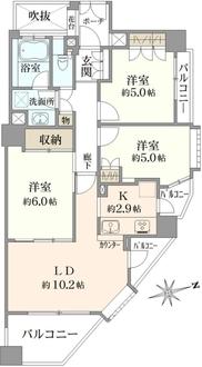ハイセレサ田無本町シティタワーの間取図