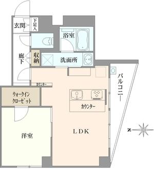 調布センタービルマンションの間取図