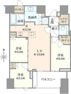ザ・レジデンス三田の間取図