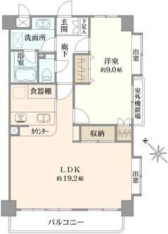 パルミナード尾山台弐番館の間取図