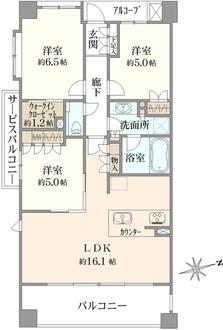 ローレルコート笹塚の間取図