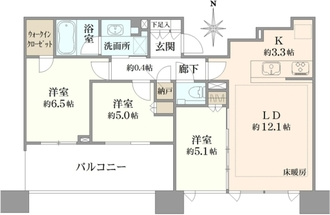 シティタワー武蔵小杉の間取図