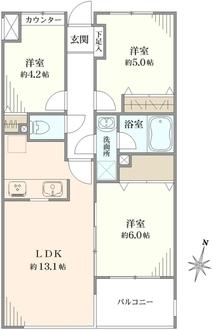 長津田ガーデンハウスの間取図