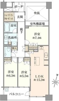 D'グラフォート世田谷芦花公園の間取図