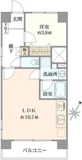 西荻窪永谷マンションの間取図