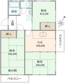 麻生台団地 34号棟の間取図