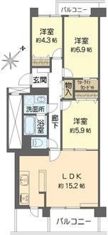 大倉山ハイム3号棟の間取図