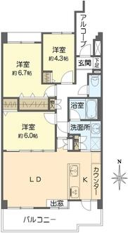 コートハウス日吉本町の間取図