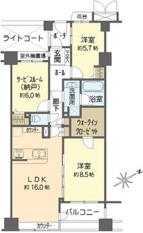 クレッセント新横浜ツインズイーストの間取図