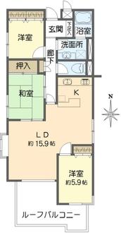 フジビューハイツ菊名壱番館の間取図