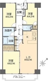 新横浜ハイツの間取図