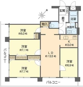 大倉山フラットの間取図