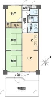 ライオンズマンション大倉山第6の間取図