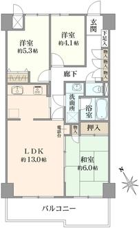 コスモ横浜小机の間取図