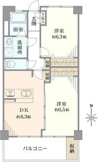 綱島住宅の間取図