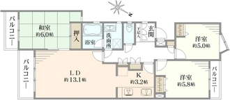 バームハイツ菊名参番館壱の間取図