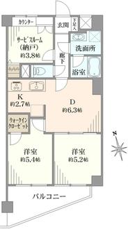 ライオンズマンション大倉山第2の間取図