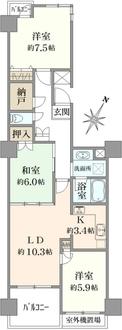 ダイアパレス・ベラーク新横浜の間取図