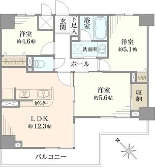 マイキャッスル・ラルジュ横浜西の間取図