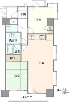 ライオンズマンション吉野町リバーサイドの間取図