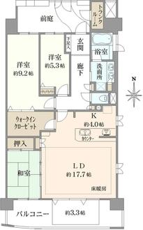 レイディアントシティ横濱カルティエ7の間取図