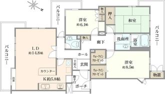 藤和横浜下永谷ホームズI棟の間取図