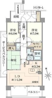 レイディアントシティ横濱カルティエ8の間取図