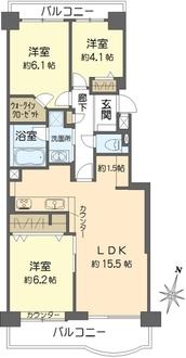 パークシティ金沢八景A棟の間取図