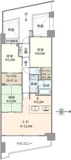 クオス横浜富岡の間取図