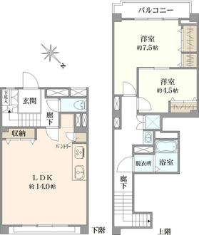 金沢八景マンションの間取図