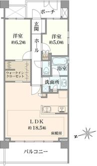 クレッセント横浜シーサイドの間取図