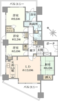 シティタワー横浜サウスの間取図