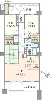 レイディアントシティ横濱カルティエ10の間取図
