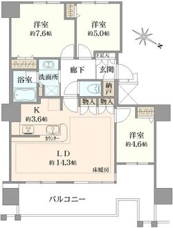 ヨコハマ・シーナリータワーの間取図