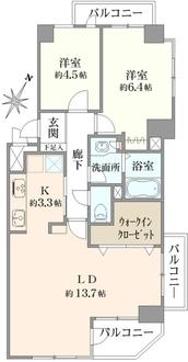 コスモ金沢文庫の間取図