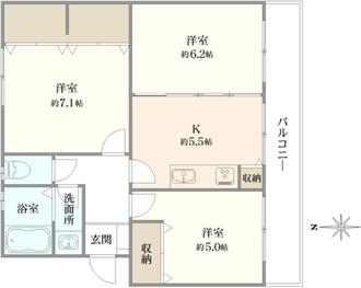 桂台団地8号棟の間取図