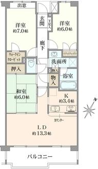 グレーシア鎌倉寺分の間取図
