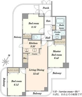 月島パインマンションの間取図
