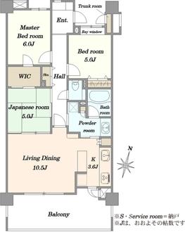 レーベンハイム鎌倉マナーハウスの間取図