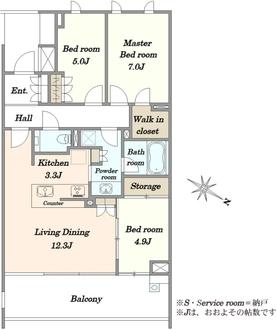 ザ・パークハウス鎌倉二階堂の間取図