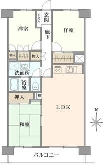 コープ野村湘南本郷台2号棟の間取図